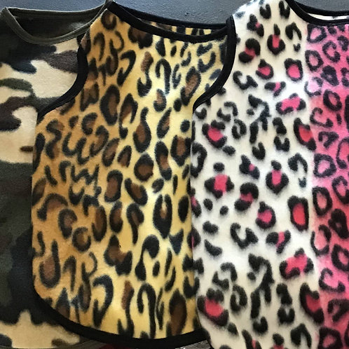 Animal Print Fleece T-Shirt