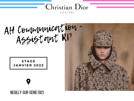 Christian Dior Couture - Assistant RP, Communication (Stage)