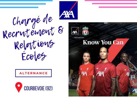 Axa - Chargé de Recrutement & Relations Écoles (Alternance)