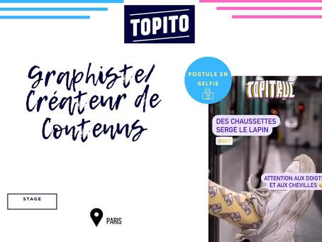 Topito - Graphiste/Créateur.trice de contenus (Stage)