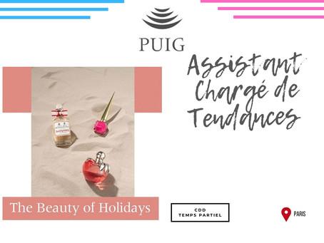 Puig - Assistant Chargé de Tendances (CDD Temps partiel)