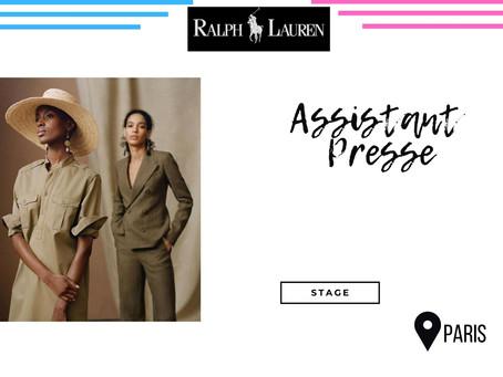 Ralph Lauren - Assistant Presse (Stage)