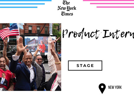 New York Times - Product Intern (Stage)