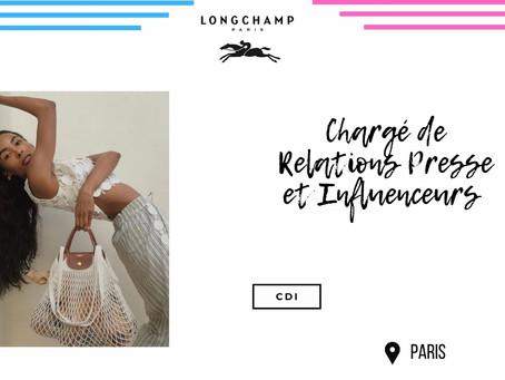 Longchamps - Chargé de Relations Presse et Influenceurs (CDI)
