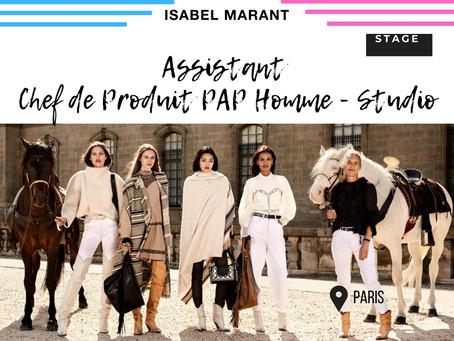 Isabel Marant - Assistant Chef de Produit PAP Homme - Studio (Stage)