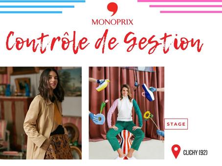 Monoprix - Contrôle de Gestion (Stage)