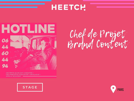 Heetch - Chef de Projet Brand Content (stage)