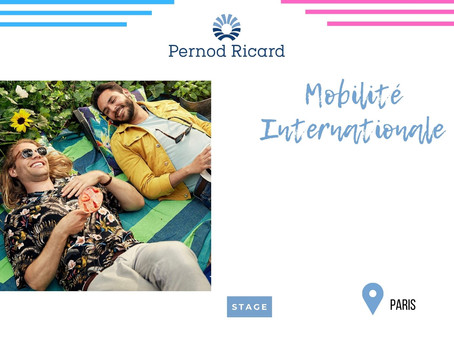 Pernot Ricard - Mobilité Internationale (Stage)
