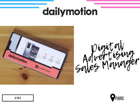 Dailymotion - Digital Advertising Sales Manager (CDI)
