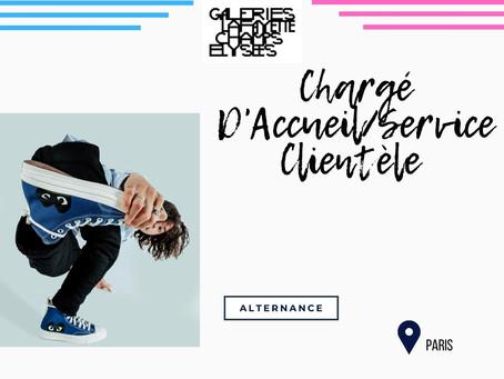 Galeries Lafayette Champs Elysées - Chargé D'Accueil/Service Clientèle (Alternance)
