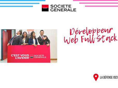 Société Général - Développeur Web Full Stack