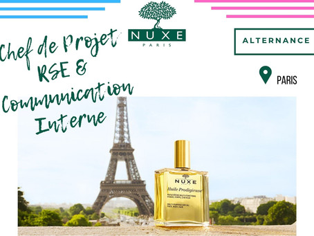 Nuxe - Chef de Projet RSE et Communication Interne (Alternance)