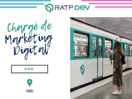 RATP Dev - Chargé de Marketing Digital (CDD)