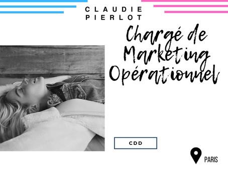 Claudie Pierlot - Chargé de Marketing Opérationnel