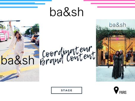 BA&SH - Coordinateur Brand Content  (Stage)