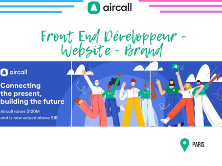Aircall - Front End Développeur - Website - Brand