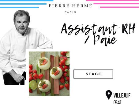 Maison Pierre Hermé - Assistant RH / Paie (Stage)