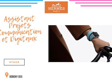 Hermès - Assistant Projets Communication et Digitaux Apple Watch Hermès et IDO (Stage)