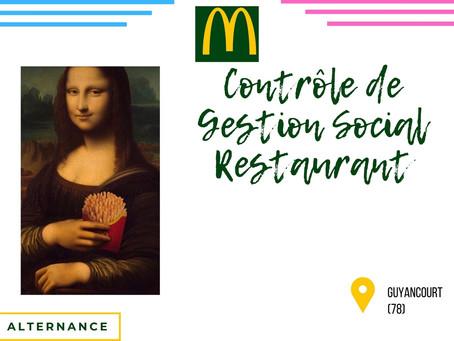 Mc Donalds - Contrôle de Gestion Social Restaurant (Alternance)