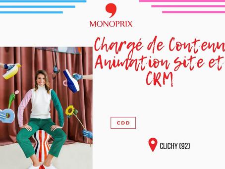 Monoprix - Chargé de contenu animation site et CRM (CDD)