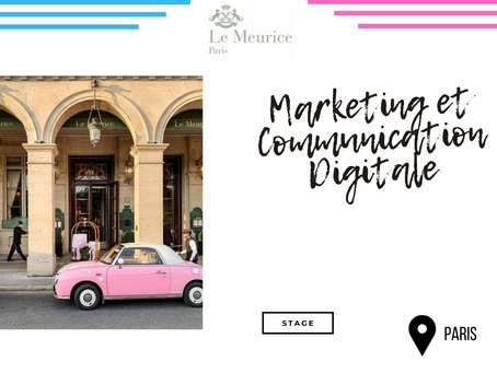 Le Meurice - Marketing et Communication Digitale (Stage)