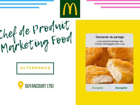 McDonald's - Chef de produit Marketing Food (Alternance)