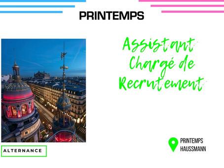 Printemps - Assistant Chargé de Recrutement (Alternance)