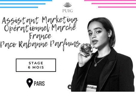 Puig - Assistant Marketing Opérationnel Marché France - Paco Rabanne Parfums (Stage)