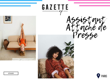Gazette RP - Assistant Attaché de Presse (Stage)