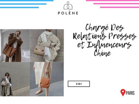 Polène - Chargé Des Relations Presses et Influenceurs Chine (CDI)