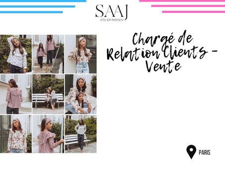 SAAJ PARIS - Chargé de Relation Clients – Vente (CDI)