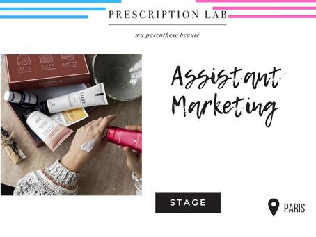 Prescription Lab -   Assistant Marketing (Stage)