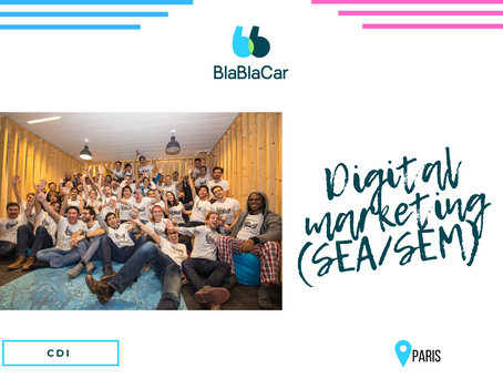 Blablacar - Digital Marketing (SEA/SEM) (CDI)