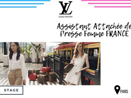 Louis Vuitton - Assistant Attachée de Presse Femme FRANCE (Stage)