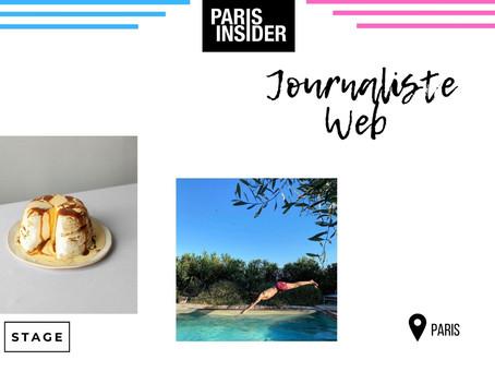 Paris Insider - Journaliste Web (Stage)