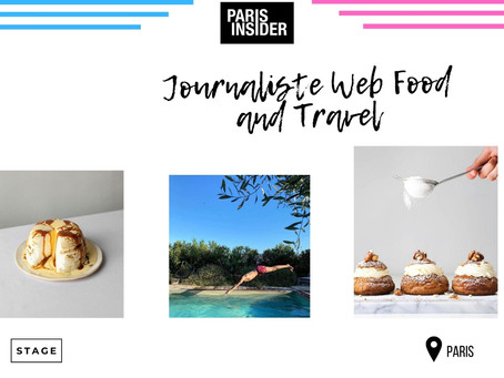 Paris Insider - Journaliste Web Food and Travel  (Stage)