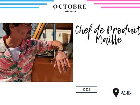 Octobre Éditions - Chef de Produit Maille (CDI)