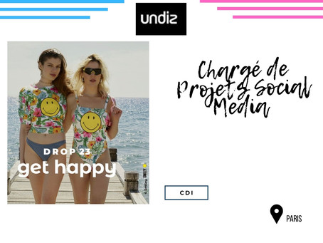 Undiz - Chargé de Projets Social Media (CDI)