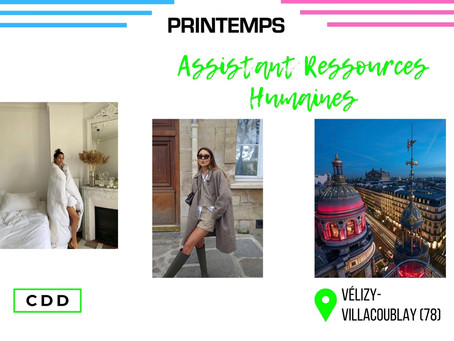 Printemps - Assistant Ressources Humaines (CDD)