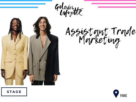 Galeries Lafayette - Assistant Trade Marketing (Stage)