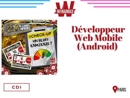 Winamax - Développeur Web Mobile (Android) (CDI)