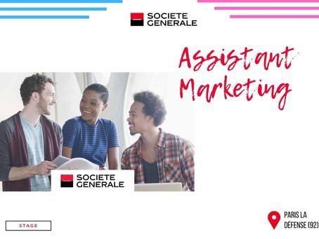 Société Générale - Assistant Marketing (Stage)