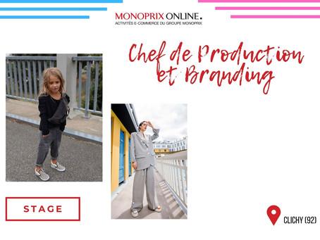 Monoprix Online - Chef de Production et Branding (Stage)