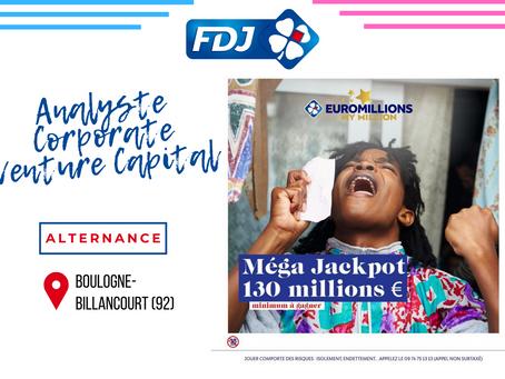 La Française des Jeux - Analyste Corporate Venture Capital (Alternance)