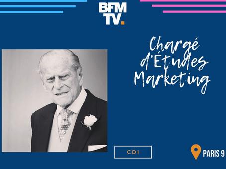 BFM TV - Chargé d'Études Marketing (CDI)