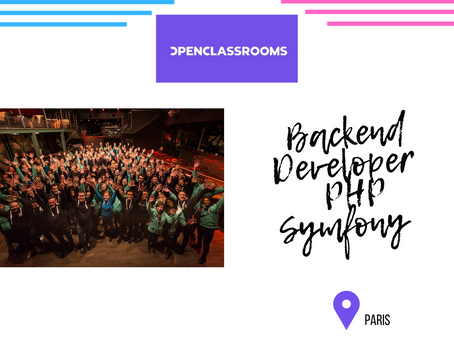 Openclassrooms - Backend Developer  PHP Symfony