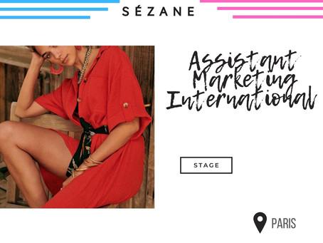 Sezane - Assistant Marketing International (Stage)