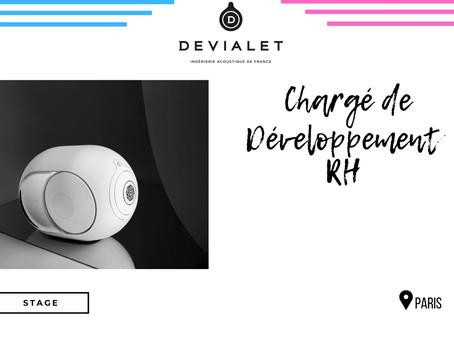 Devialet - Chargé de Développement RH (Stage)