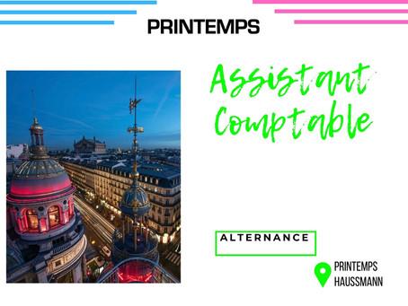 Printemps - Assistant Comptable  (Alternance)