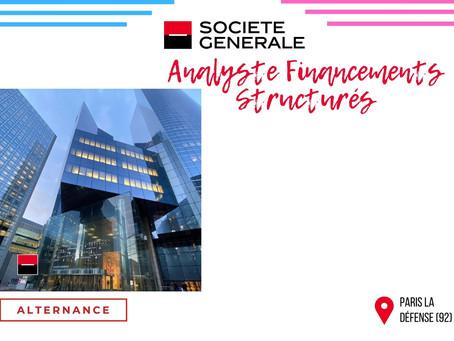 Société Générale - Analyste Financements structurés (Alternance)